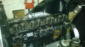 Vauxhall engine partly stripped