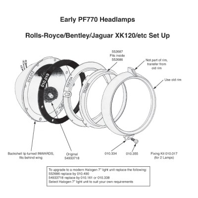 PF770 Headlamp Backshell - Early Pattern