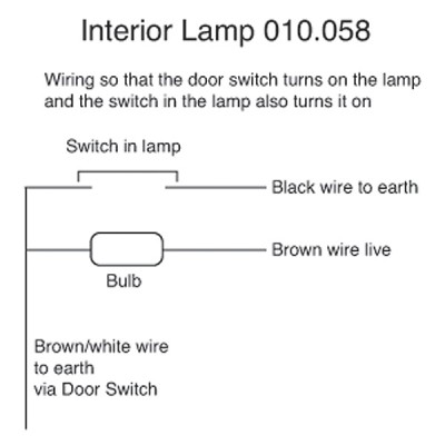 Interior Lamp with Switch - Rover P5 & P5B