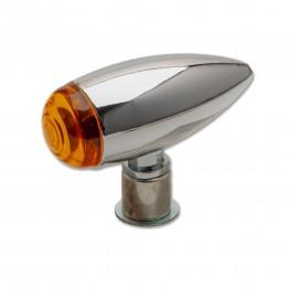 Bulltet Style Flasher Lamp - Chrome