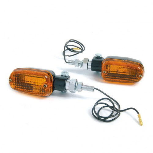 Flasher Lamps Extendable Ends  Black