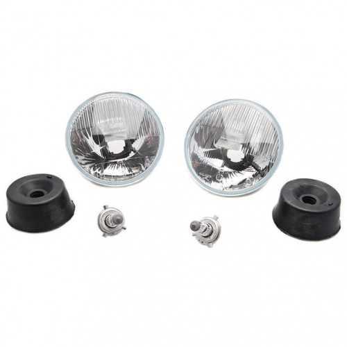 Wipac 7 Inch RHD Halogen Headlamp Set without Sidelight image #1