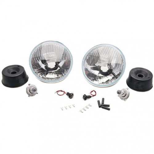 Wipac 7 inch RHD Halogen Light Unit Set with Sidelight image #1