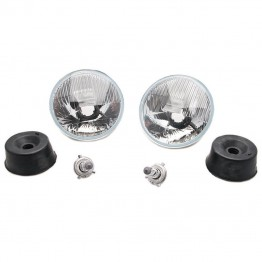 Wipac 7 inch LHD Halogen Light Unit Set without Sidelight
