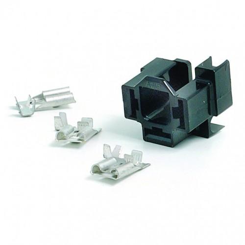 Headlamp or Flasher Relay Socket Kit - Right Angled image #1