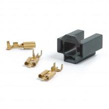 Headlamp or Flasher Relay Socket Kit - Straight