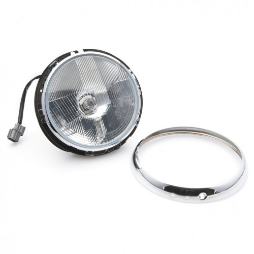 Headlight 7 inch Halogen Headlamp Assembly by Wipac with Sidelight - RHD image #1