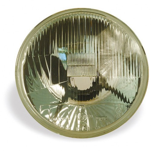 Headlamp Unit - Wipac 7 inch RHD Halogen - No Sidelight - Metal Reflector image #1