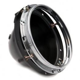 Headlamp - 7 inch - Lucas  3-Adjuster Backshell Assembly