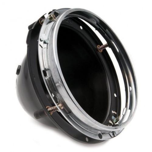 Lucas 7 inch Headlamp 3-Adjuster Backshell Assembly without Light Unit image #1