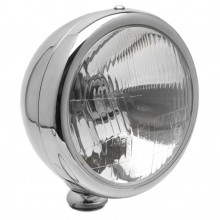 5 3/4 in Freestanding Headlamp Shell - Stainless Steel