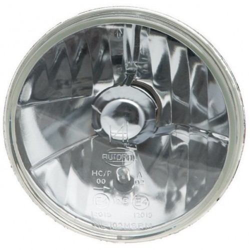 Autopal 7 inch Halogen Headlamp - With Sidelight - Plain Glass - RHD image #1