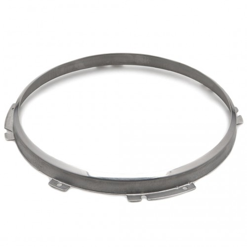 7 inch Headlamp 2-Adjuster Retaining Rim - Stainless Steel image #1