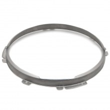 7 inch Headlamp 2-Adjuster Retaining Rim - Stainless Steel