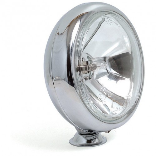 Wipac Base Mounted Driving Lamps - Chrome - 5 inch Diameter - Pair image #1