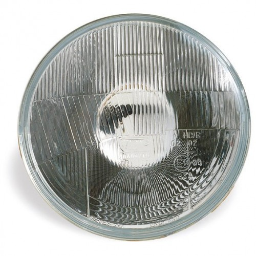 Wipac 7 inch Halogen Headlight  - No Sidelight - Plastic Reflector RHD image #1