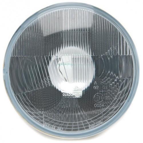 Wipac 7 inch Halogen Headlight  - With Sidelight - Plastic Reflector RHD image #1