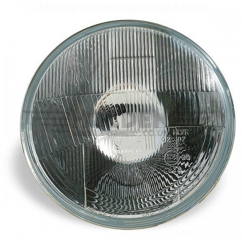 Wipac 7 inch Halogen Headlight  - No Sidelight - Plastic Reflector LHD image #1