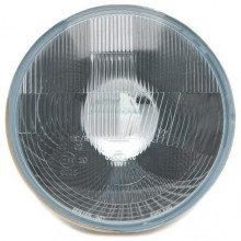 Wipac 7 inch Halogen Headlight  - With Sidelight - Plastic Reflector LHD