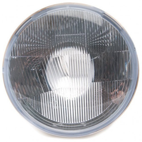 Halogen Headlight Unit - Polycarbonate - With Sidelight - 7 inch - RHD image #1