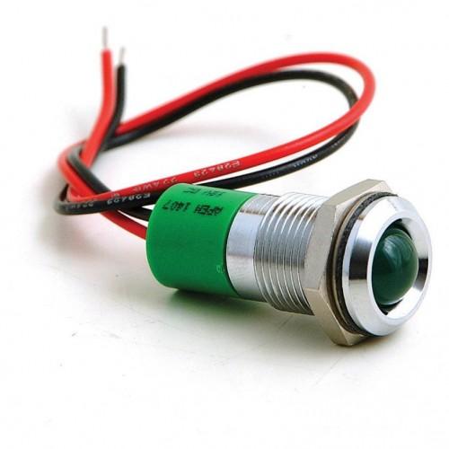 16mm - LED Warning Lamp Green image #1