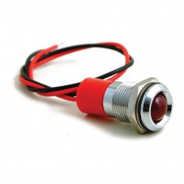 16mm - LED Warning Lamp Red