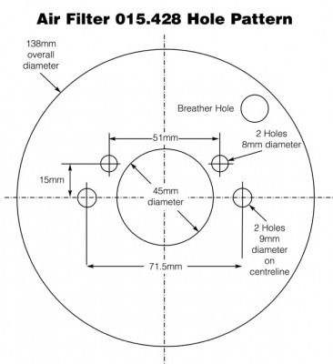 Air Filter for Stromberg 175CD