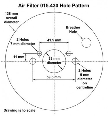 Air Filter for SU 1 1/4 in H2/HS2