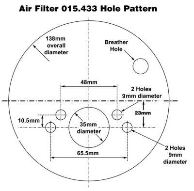 Air Filter for SU 1 1/2 in H4/HD4/HS4 Offset