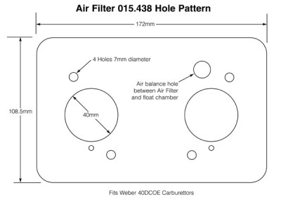 Air Filter for Weber 40DCOE