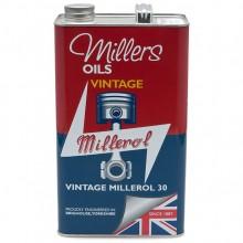 Millers Engine Oil - Vintage Millerol 30 - 5 litres