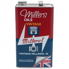 Millers Engine Oil - Vintage Millerol 40 - 5 litres