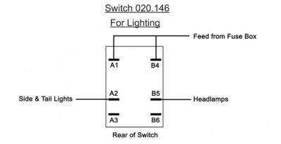 Toggle Switch - Off-On-On with Long Lever - 6 Terminals