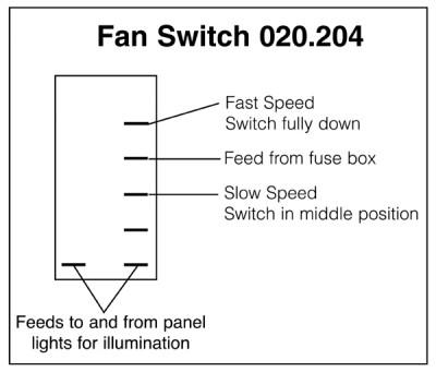 Heater Fan 2-Speed Rocker Switch Off-on-on