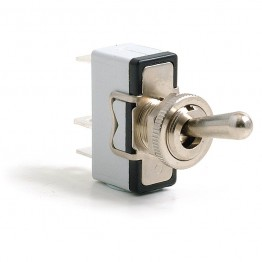 Toggle Switch - Sprung On-Off - Standard Lever - 3 Terminals
