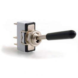 Toggle Switch - Sprung Off-On - Long Lever - 3 Terminals