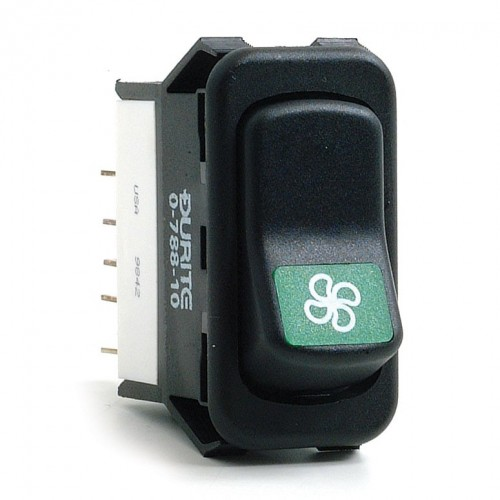 Heater Fan 2-Speed Rocker Switch Off-on-on image #1