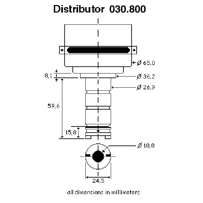 123 Electronic Distributor-4 Cylinder-Negative Earth