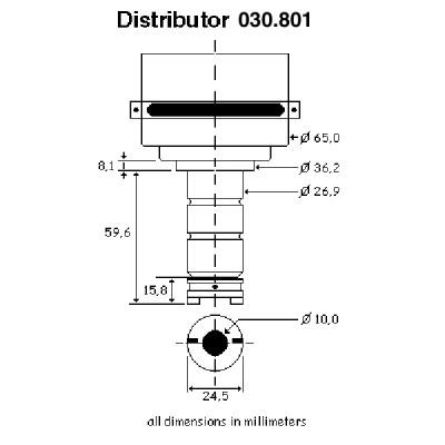 123 Electronic Distributor-6 Cylinder-Universal