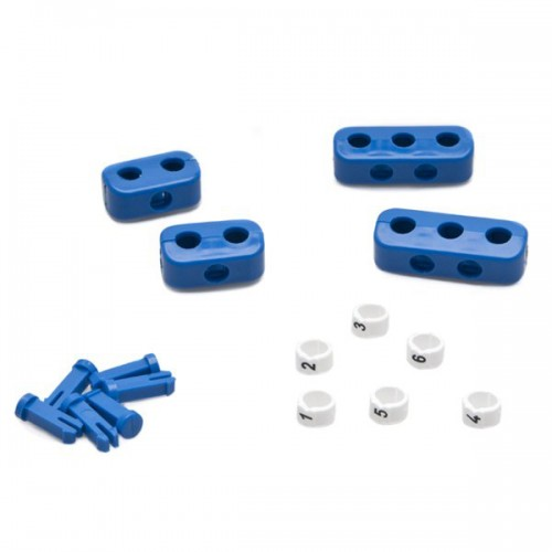 Clamp Set - 6 Cylinder Blue  with Ignition Lead Markers image #1