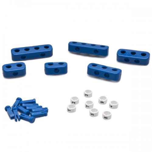 Clamp Set - 8 Cylinder Blue  with Ignition Lead Markers image #1