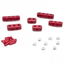 Clamp Set - 8 Cylinder Red  with Ignition Lead Markers