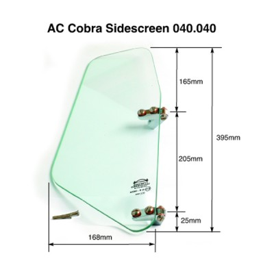 AC Cobra Side Screen - Toughened Glass