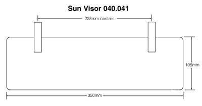 Sun Visor - Smoke