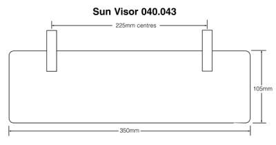 Sun Visor - Blue