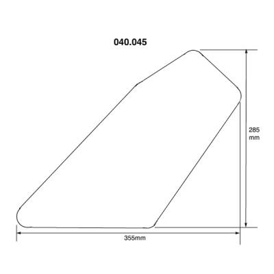 AC Cobra Sidescreen - Perspex - Undrilled