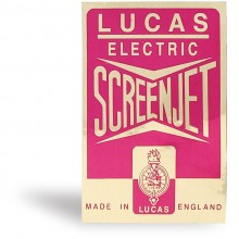'Lucas Screenjet' Washer Bottle Sticker