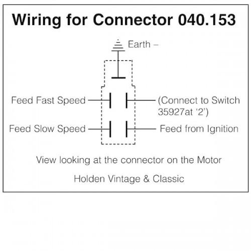 connector kit for lucas wiper motor for vintage and. Black Bedroom Furniture Sets. Home Design Ideas