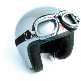 Mark 6 Goggles - Silver/Black PVC