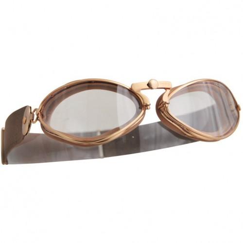 Aviator Retro Goggles - Gold image #1